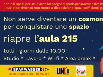Aula 215: a Roma uno spazio per dottorandi ed assegnisti